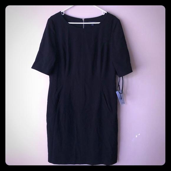 Tahari Dresses & Skirts - TAHARI Black Dress with Front Pockets NEW!